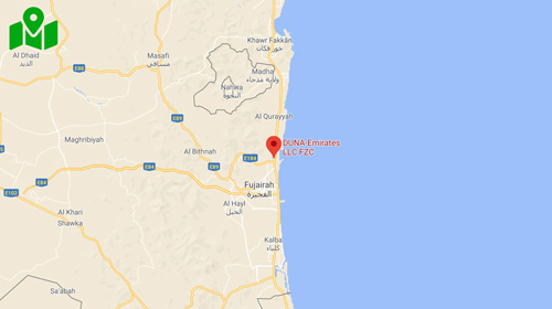 Mappa-Emirati Arabi Uniti - Duna Corradini